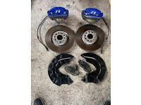 Vw golf mk7 r front brakes setup