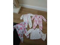 Baby girl sleep suits 0/3 months