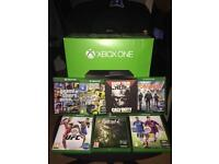 Xbox one , with controller and 7 games