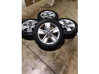 """Set of 17"""" genuine Vw Davenport alloy wheels and tyres Vw T5 T6 Transporter (delivery miles only)"""