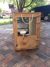 Full flight specification dog crate.