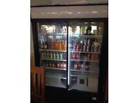 Double large drinks fridge