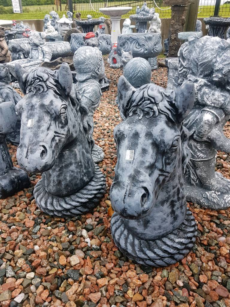 Horse head garden ornaments