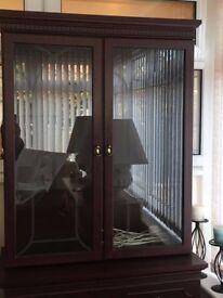 Glass display cabinet & Cupboard