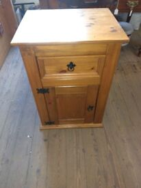 Solid pine bed side table
