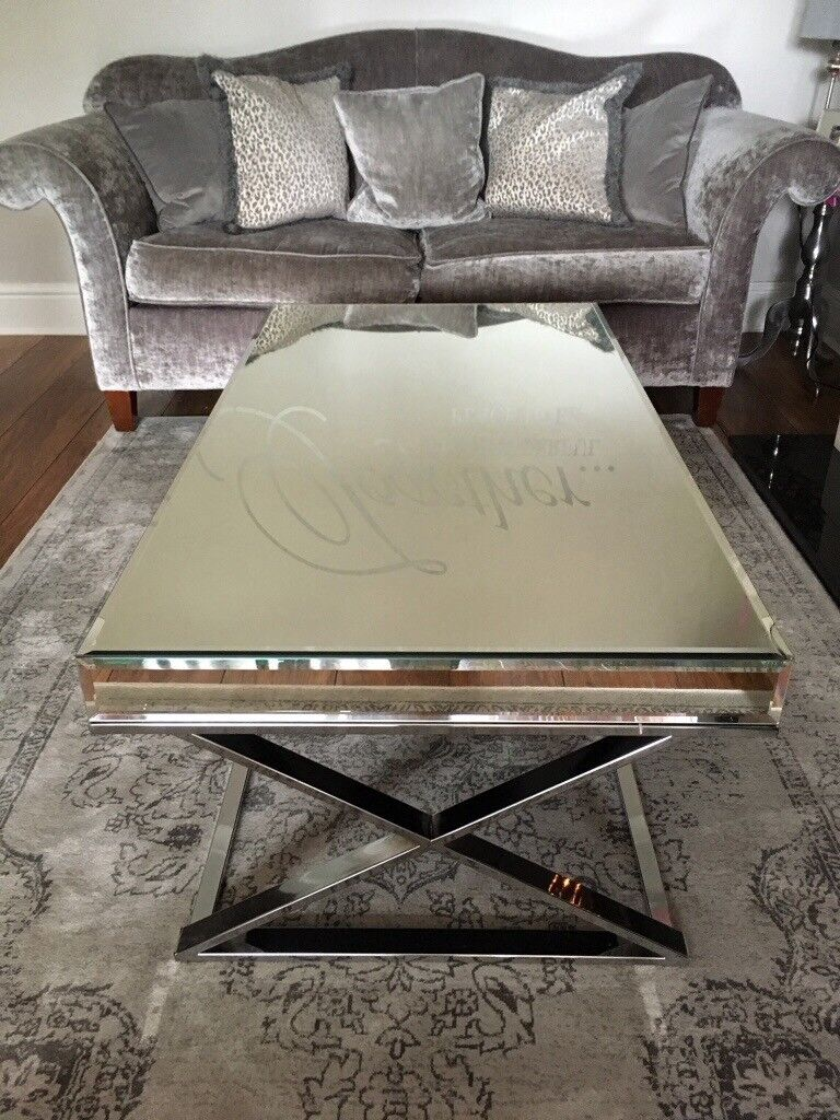 cheap for discount 8925b 4982e Mirrored coffee table (Argos Piazzo mirrored top coffee table) | in  Woodthorpe, Nottinghamshire | Gumtree