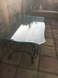 Glass top dining suite x 6 chairs