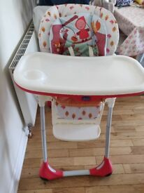 Chico 2 in 1 highchair red