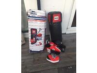 Boxing Punch Bag Set. With gloves - Pads and bracket