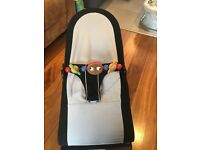 Baby bjorn bouncer chair with wooden toy