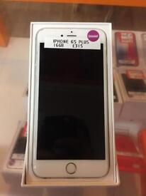 iPhone 6s Plus, 16gb, unlocked, white and silver