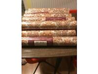 12 roll of retro wall paper