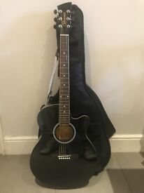 Brunswick Electric/Acoustic Guitar Black - pristine condition, used once