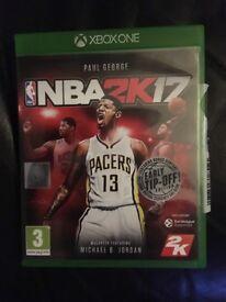 Xbox one game NBA2K17
