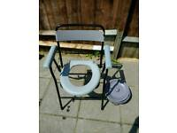 Folding Commode Chair with bucket- price negotiable
