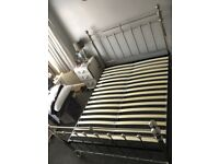 King Size Bed Frame - Castello Pewter Bed Stead - from M&S