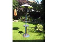 Parasol heater and gas bottle