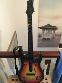 Xbox 360 world tour guitar and game