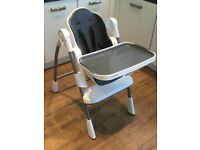 Oribel highchair slate (grey)