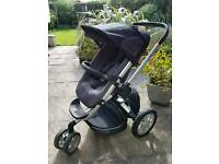 Quinny Buzz pushchair, carrycot and accessories