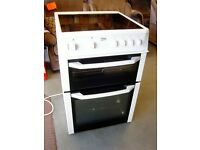 Beko BDC643W 60cm Double Cavity Electric Cooker WIth Ceramic Hob White. Excellent Condition