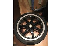 """17""""alloys 4x108 wolfrace 4studs with tyres"""
