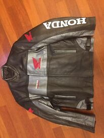 Real leather Honda jacket. Teenage boy