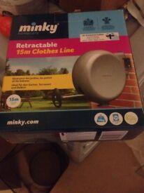'Minky' retractable clothes line NEW