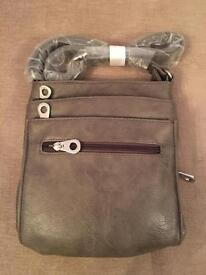 Grey IT Cross Body Bag