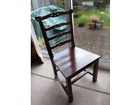 Four antique style dining chairs