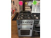 LEISURE 55CM ALL GAS COOKER IN SILIVER WITH LOD