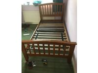 TWO SINGLE WOODEN BED FRAMES ( EURO KING SINGLE SIZE)