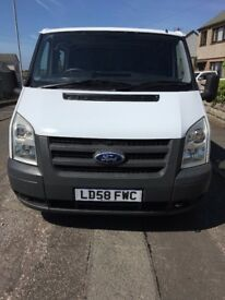 FORD TRANSIT 110 280 FWD MWB 2.2 TURBO DIESEL, 5 SEATS NO VAT