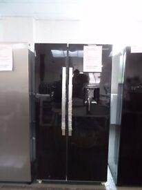 Brand New Ex Display Kenwood American Fridge Freezer - Black KSBSDB15
