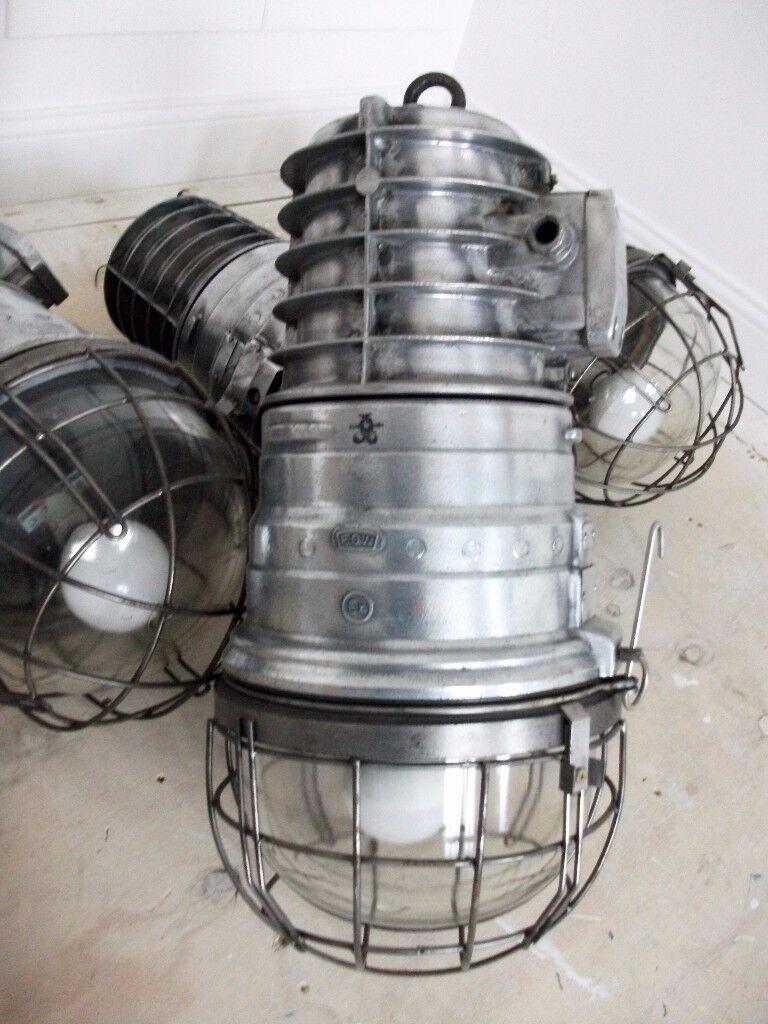 Amazing Cast Aluminium Blast Proof Pendant Lights - Stunning Vintage Lights that look AMAZING !!!