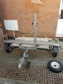 Side loading motorbike trailer