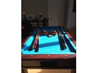 Mahogany slate pool table