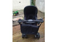 Silver cross pram and travel system with car seat and Moses basket stand