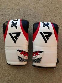 3x RDX Maya Leather Heavy Boxing Punch Bag Gloves