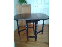 Victorian oak barley twist table in need of stripping or upcycling