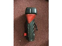 energizer make torch - black and red plastic heavy and really handy to have
