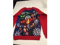 Avengers Christmas jumper Age 11-12