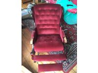 Chair - Recliner - Genuine Victorian Antique - Very Good Condition