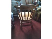 Wooden dining room table and chairs - excellent condition