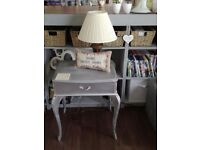 Silver side table with drawer £8 plus other items from £5