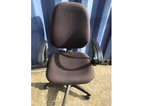 Black padded office chair FREE DELIVERY PLYMOUTH AREA