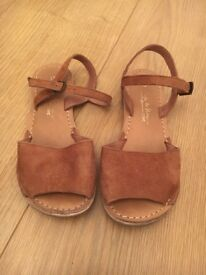 Next brown leather size 13 sandals