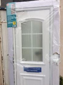 New PVCu front door and frame set (B&Q) - original price £273, so grab a bargain!