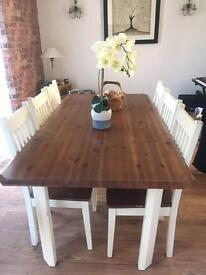 SOLD - Dining table & 6 chairs