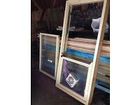 Wooden Mock Sash Window Double Glazed Bottom Opening